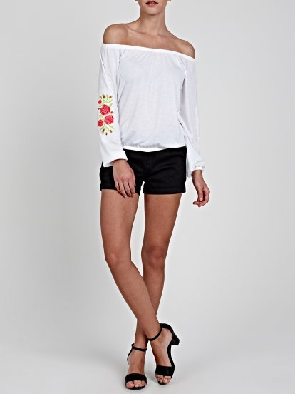 TOP WITH EMBROIDERY