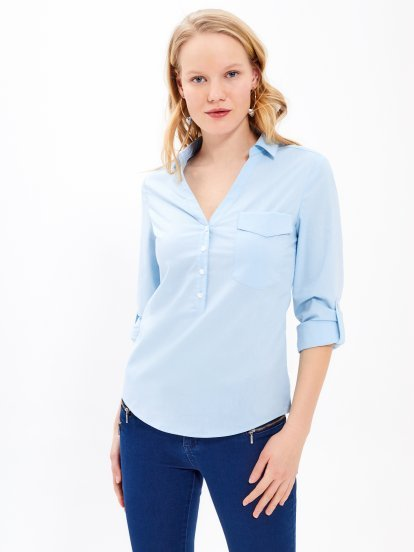 Basic stretch blouse