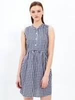 Kockované košeľové šaty