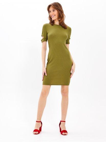 Ołówkowa sukienka ze splotu żeberkowego