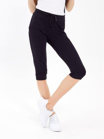 Basic 3/4-leg sweatpants