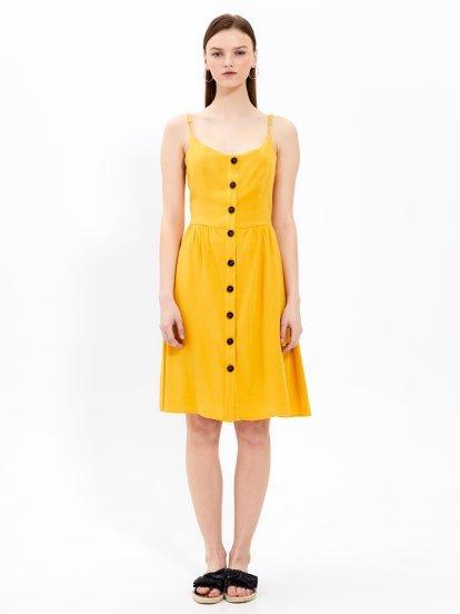 Button down strappy midi dress