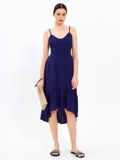 Sukienka na ramiączkach z falbaną