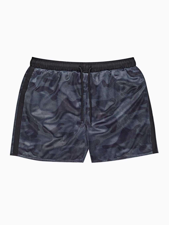 Camo print swim shorts