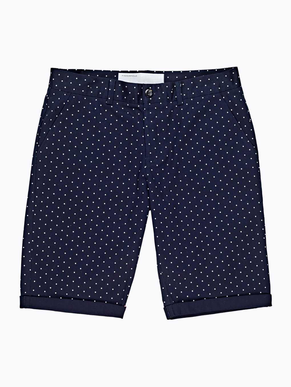 Polka dot print stretch shorts