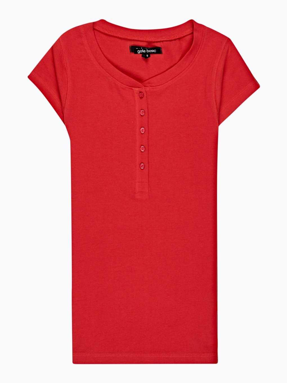 Jednoduché tričko s knoflíky