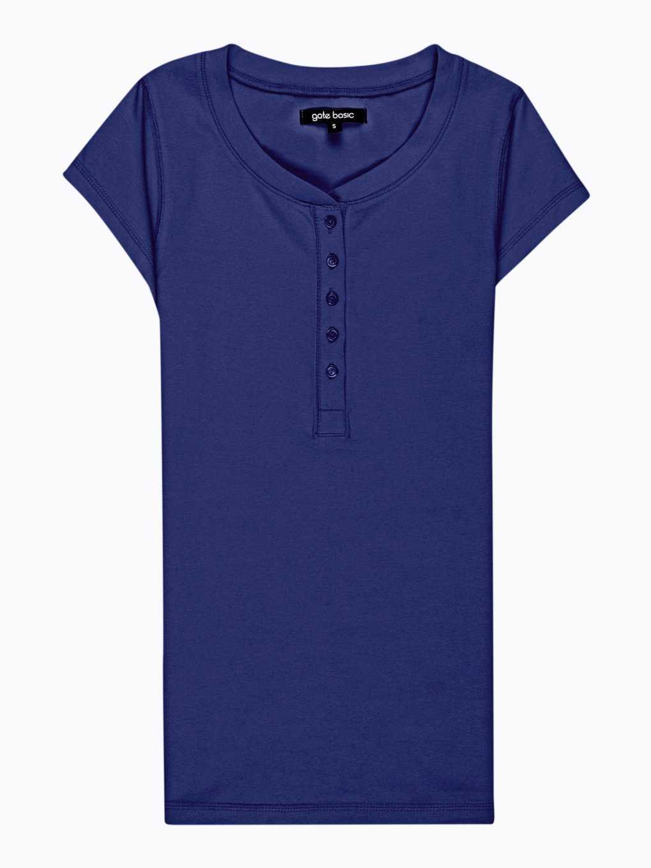 Základné tričko s gombíkmi