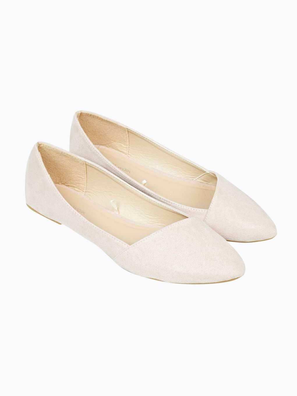 Cap toe ballerinas