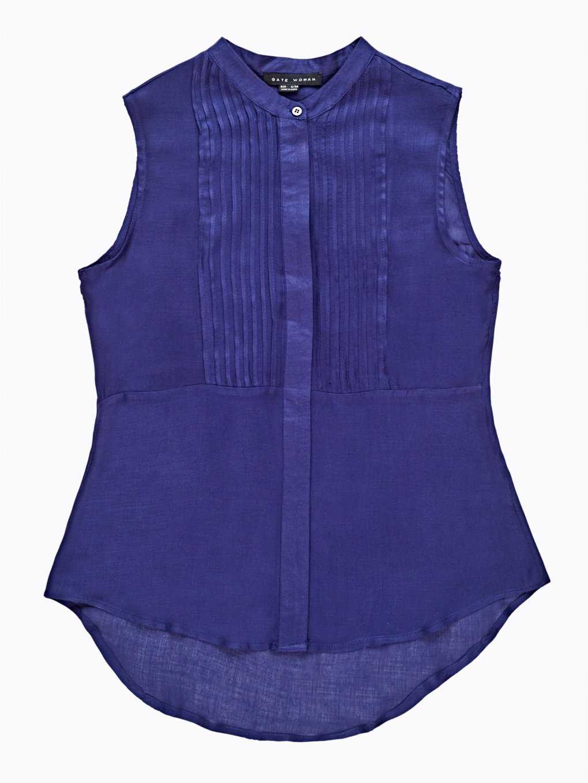 Sleeveless viscose blouse top