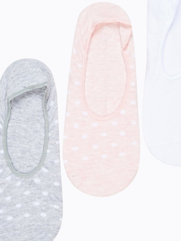 3-pack polka-dot footies