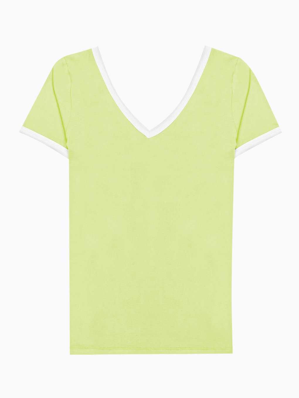 Basic koszulka z kontrastową lamówką