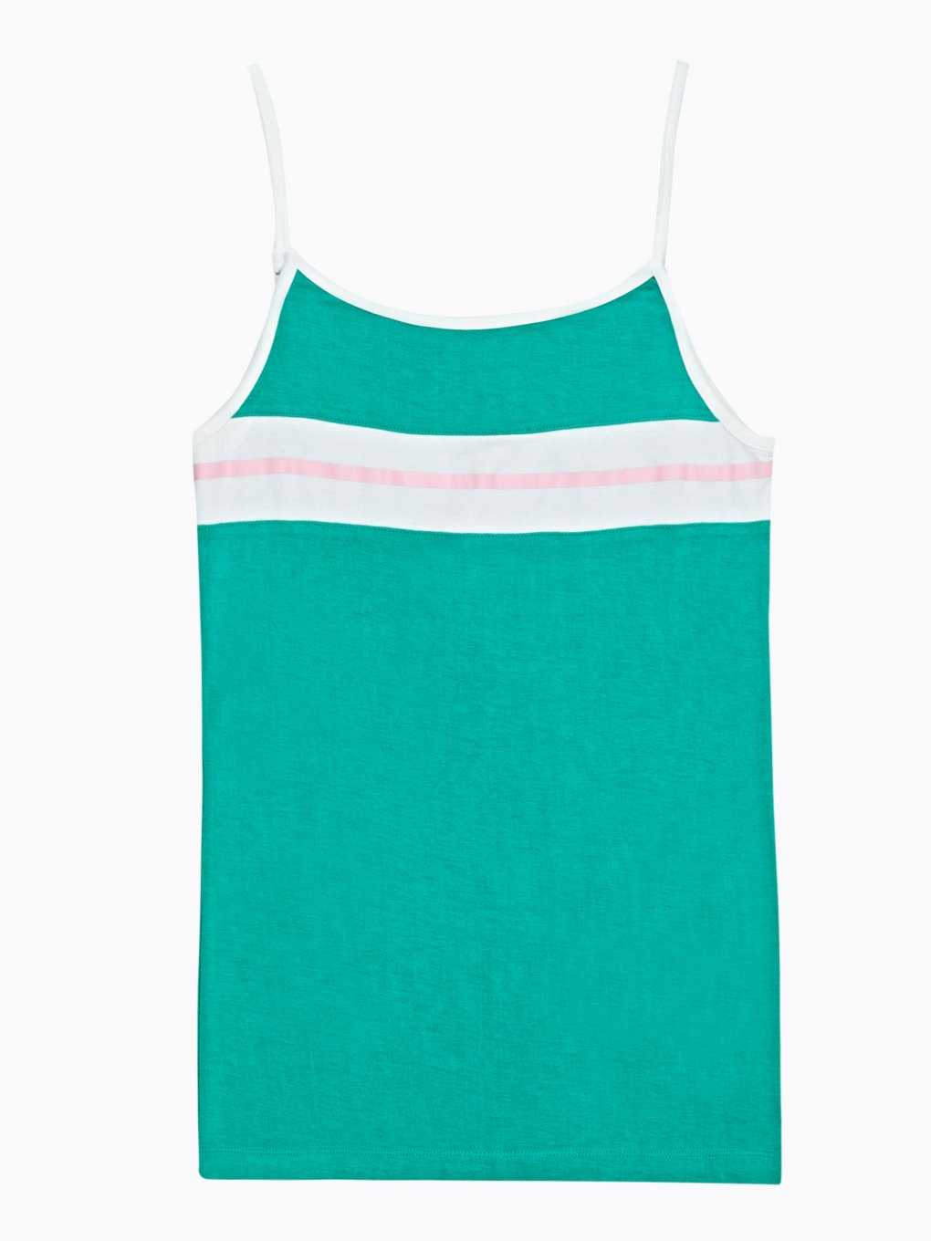 Tank top with stripes