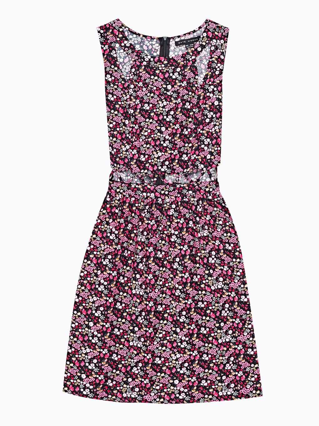 Floral print dress with cut-out details
