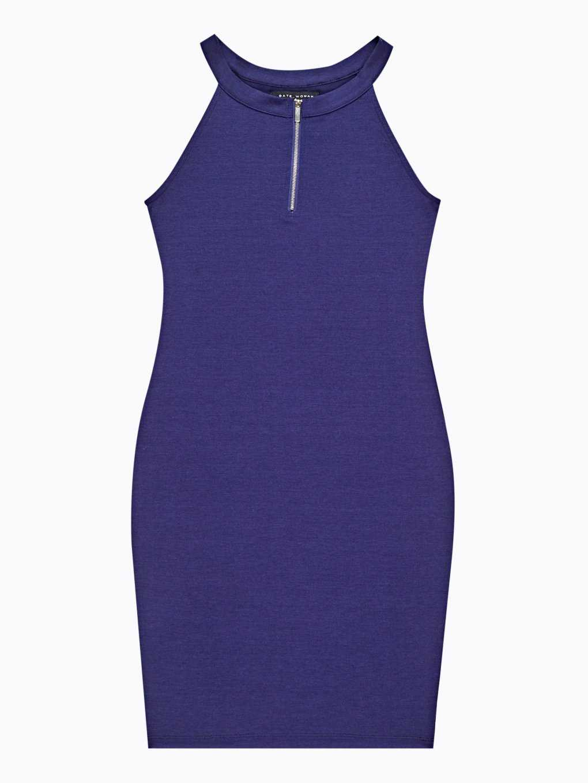 Bodycon dress with zipper