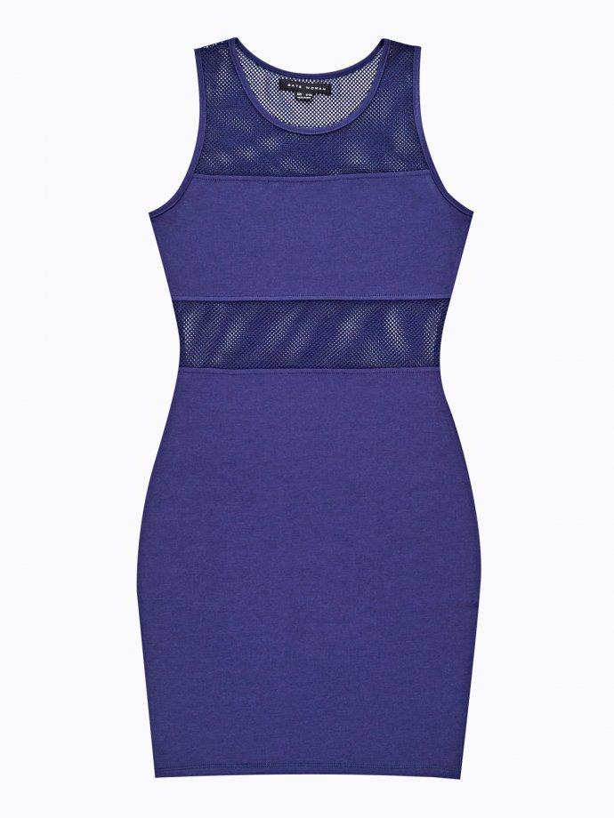 Kombinované puzdrové šaty