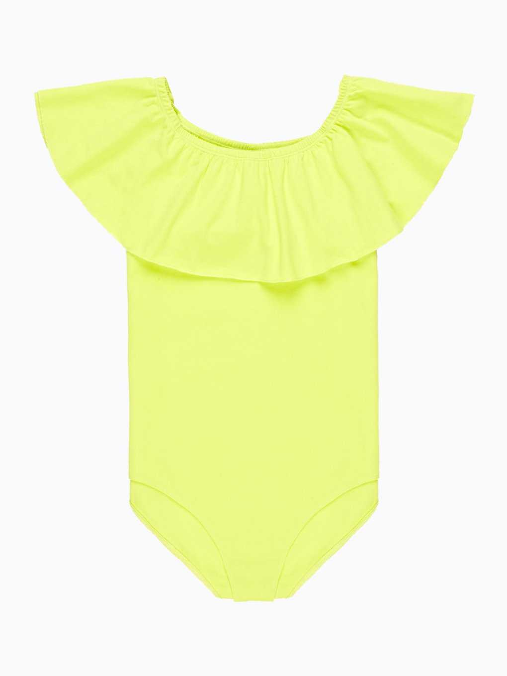 Off-the-shoulder bodysuit with ruffle