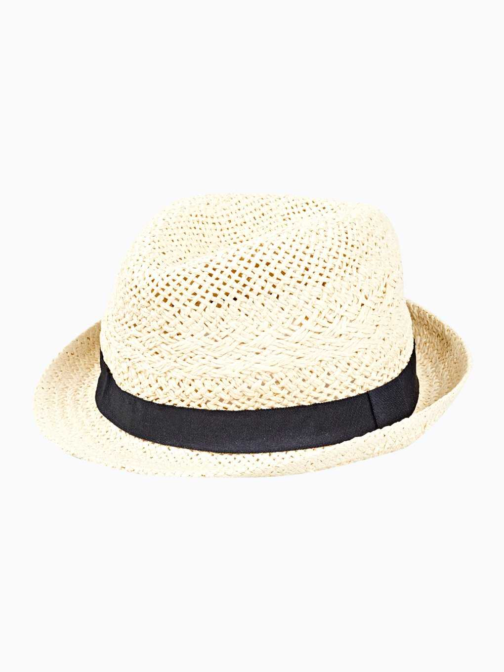 Fedora hat with contrast tape