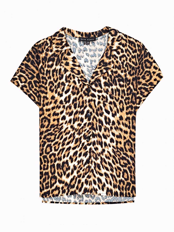 Viskózová košeľa so zvieracím vzorom