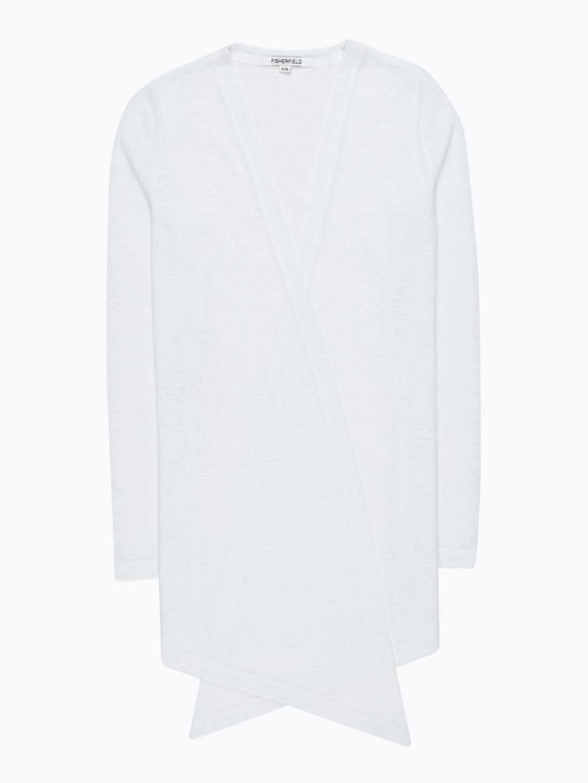 Plain longline cardigan