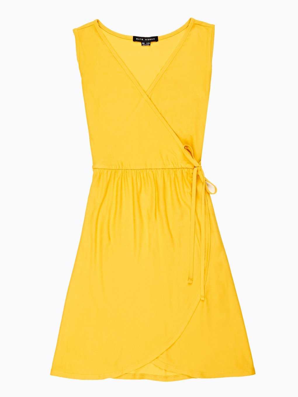 Plain wrap dress