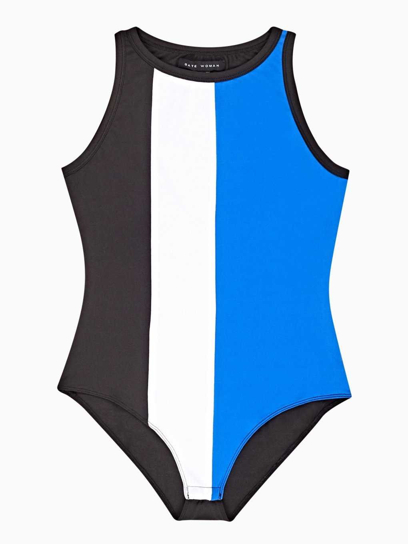Colour block bodysuit