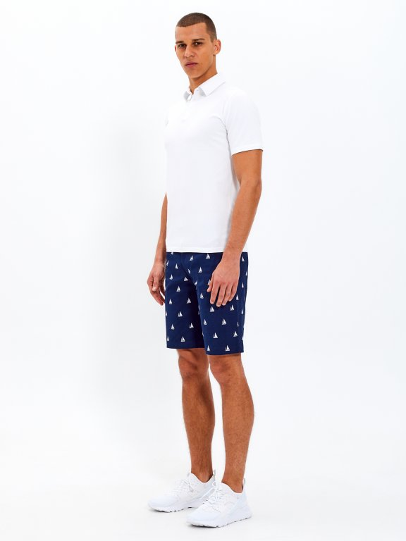 Basic stretch jersey polo shirt