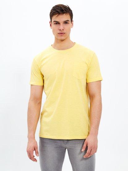 Basic slub jersey t-shirt with chest pocket