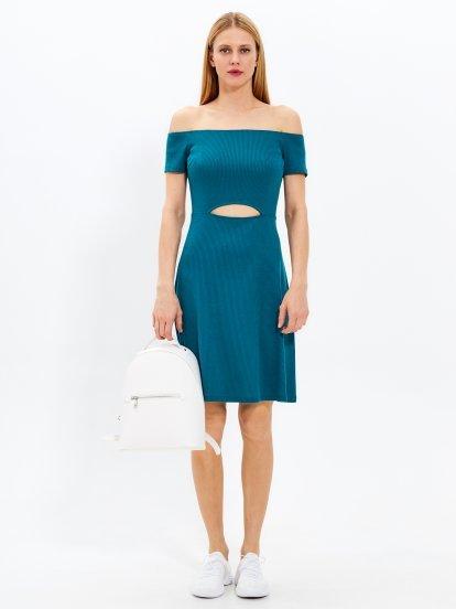 Cut-out waist dress