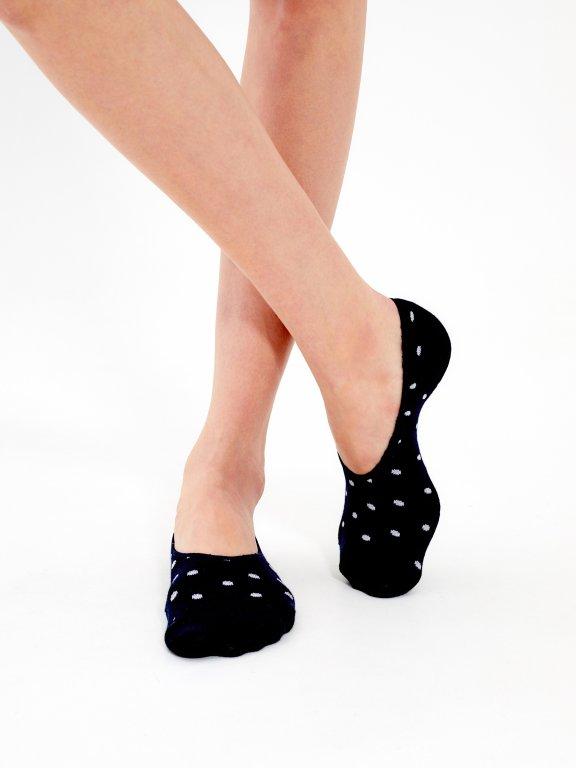 2-pack polka-dot footies