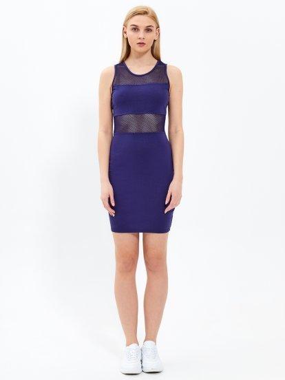 Kombinowana ołówkowa sukienka