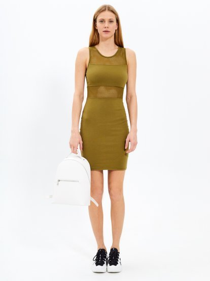 Combined bodycon dress