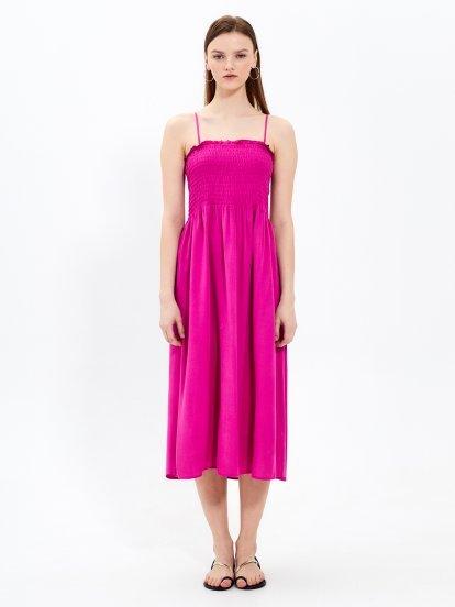 Midi sukienka na ramiączkach