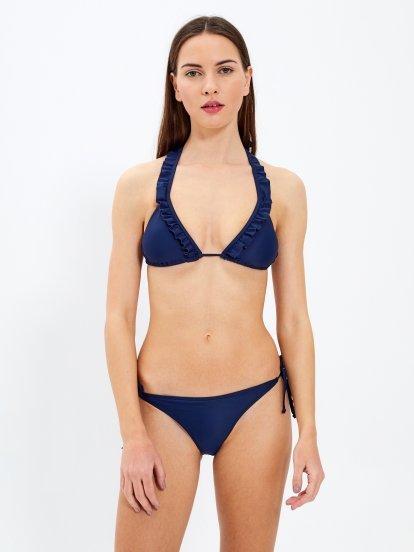Bikini top with ruffle