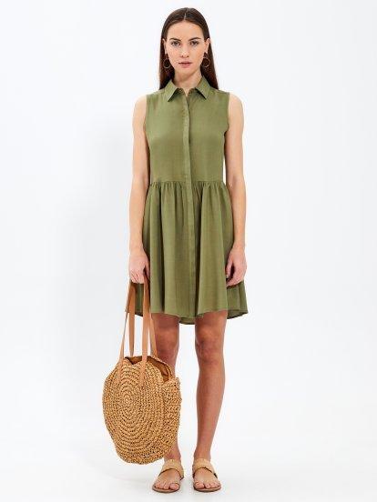 Sleeveless shirt dress