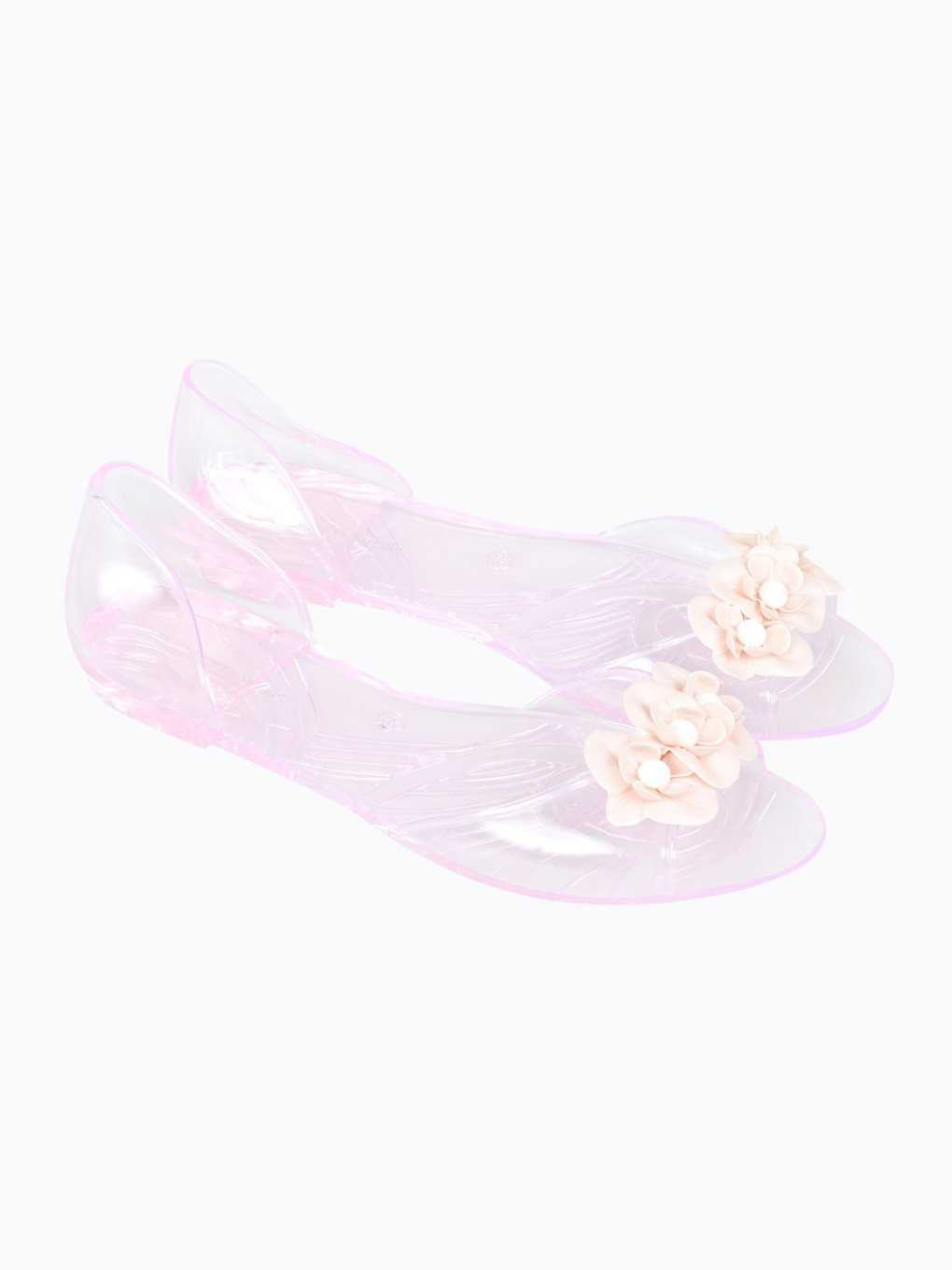 Jelly sandals with flowers