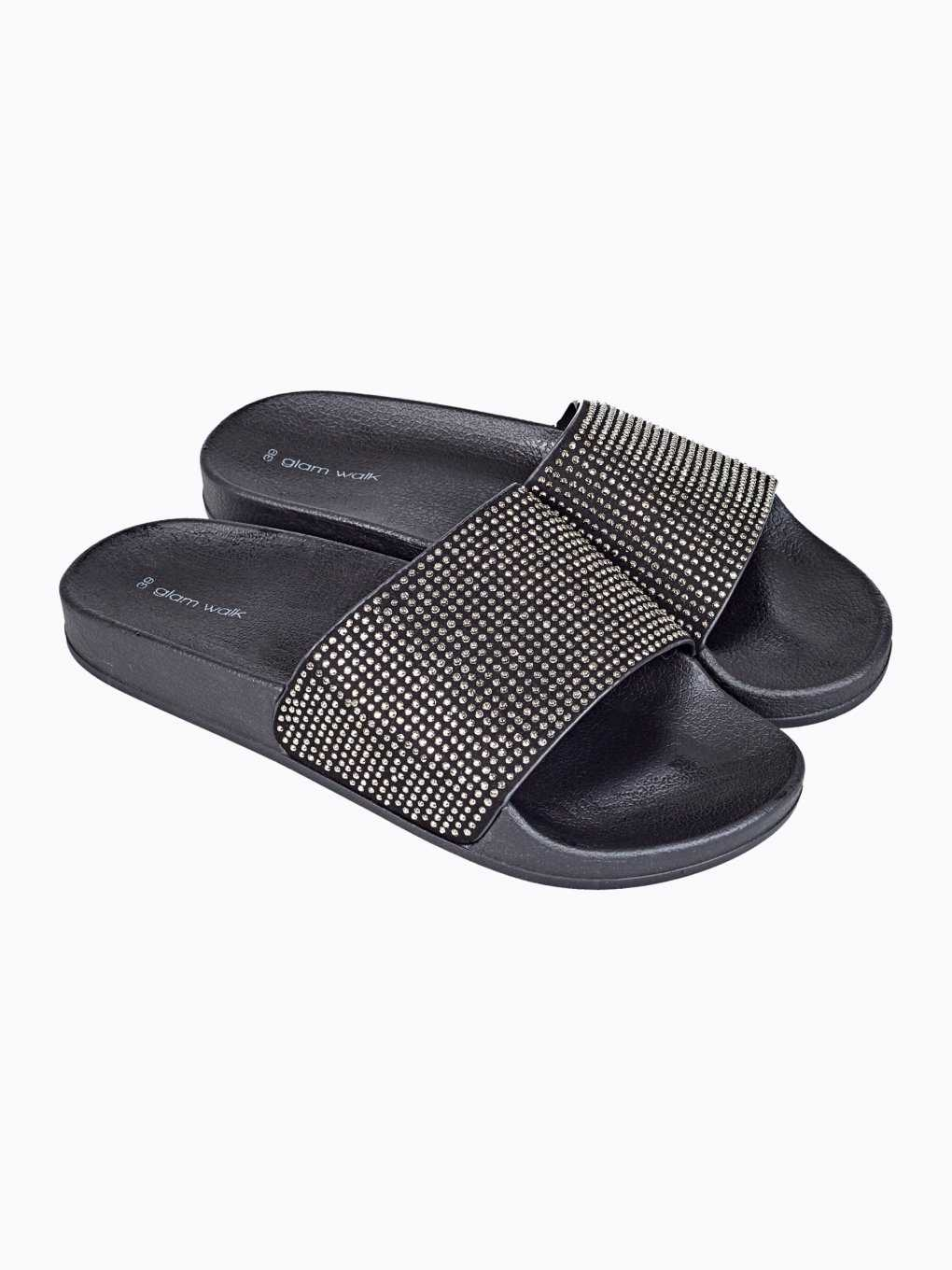 Stone-embellished slides