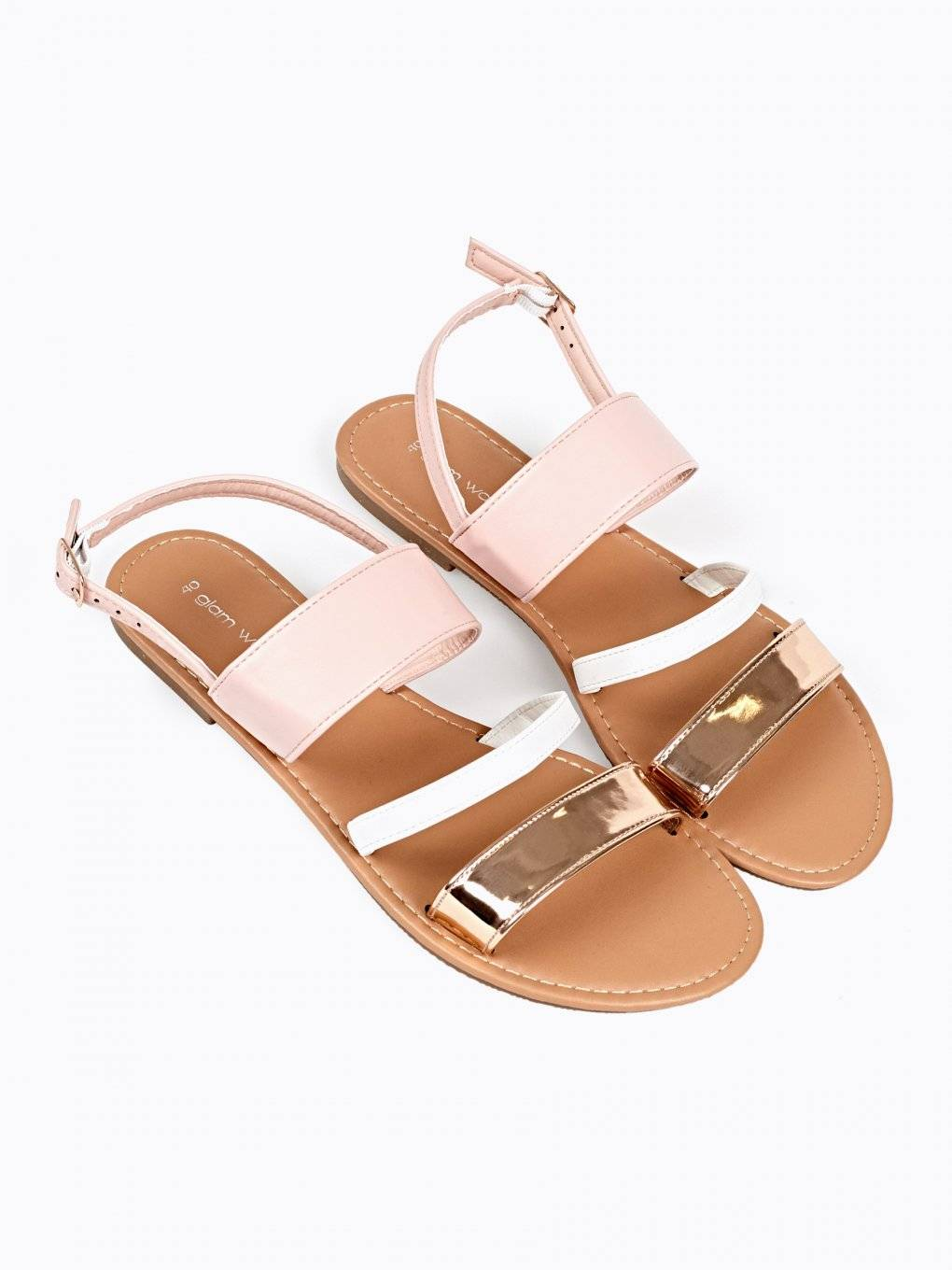 SANDALS WITH METALLIC DETAIL