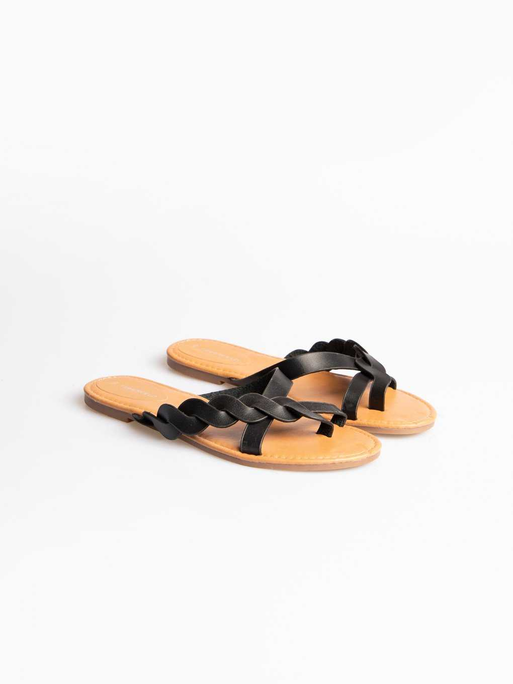 Slides with braided strap