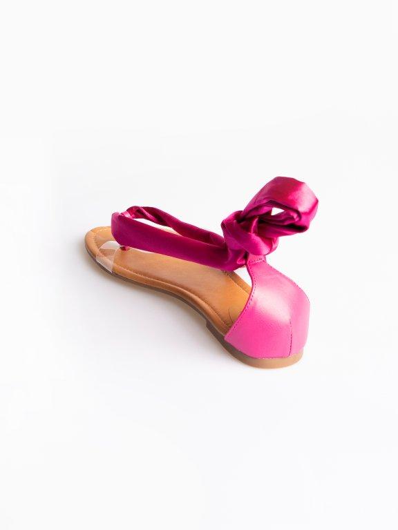 Lace-up flat sandals