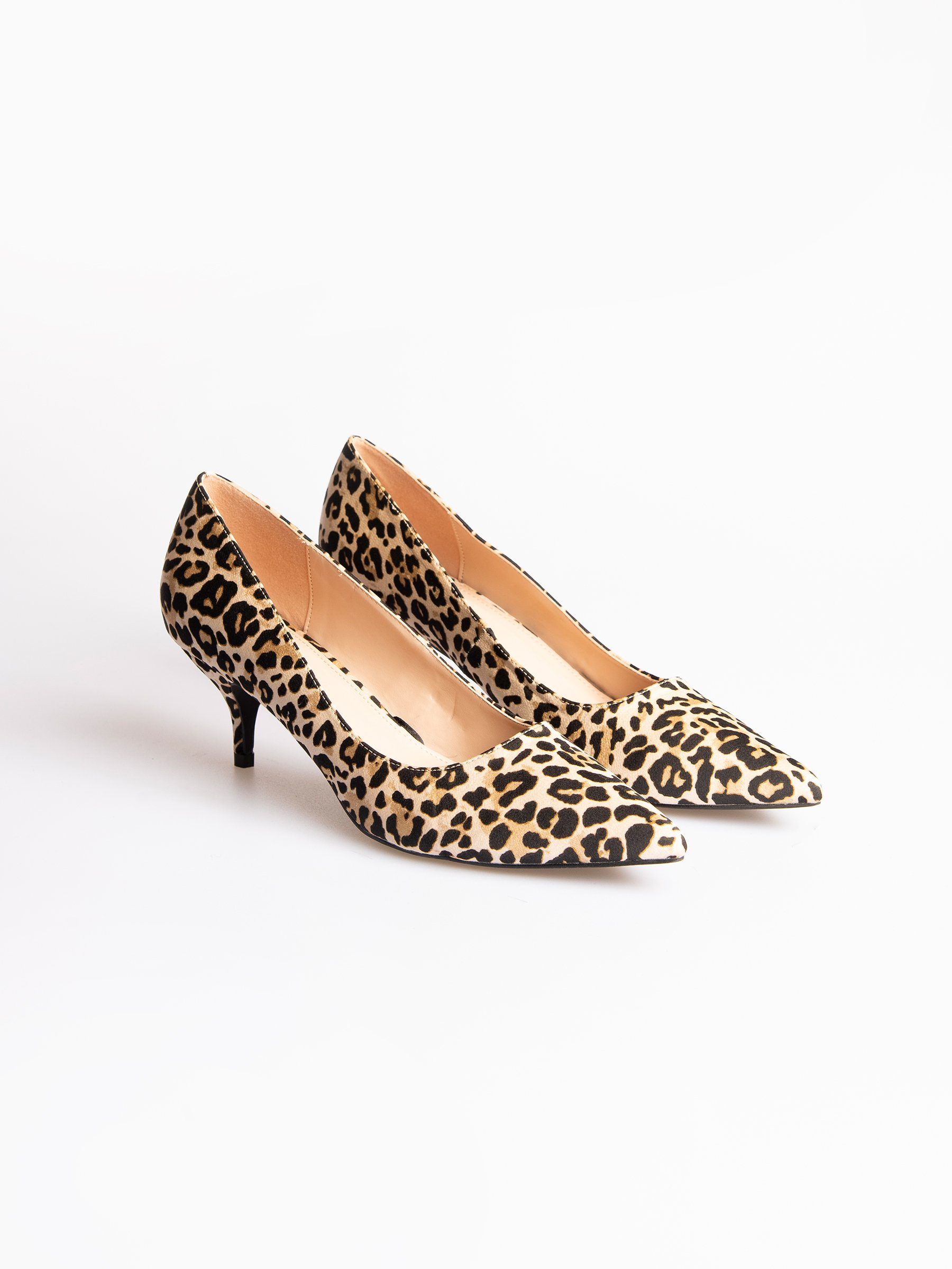 Mid heel pumps with animal print | GATE