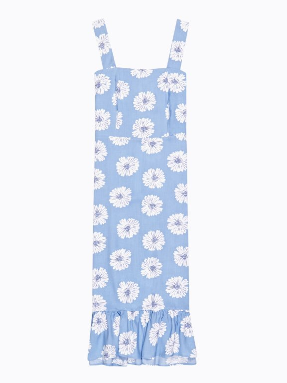 Sukienka midi z nadrukiem kwiatowym
