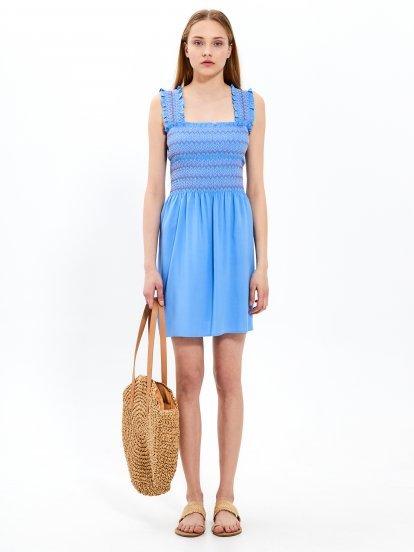 Shirred summer dress