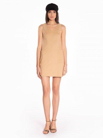 Mini dress with pockets