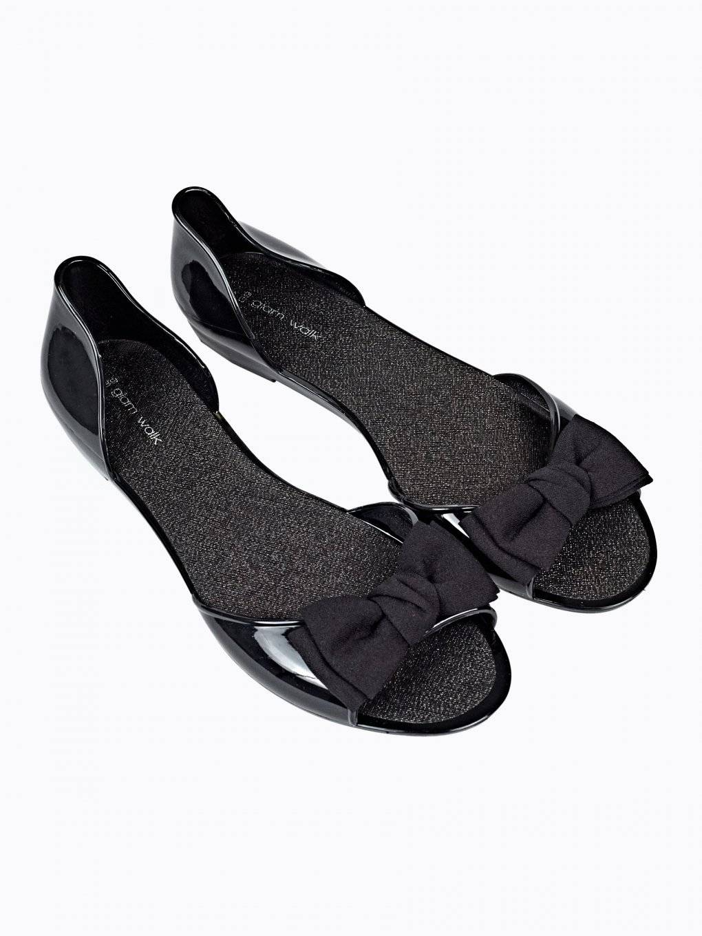 JELLY FLAT SANDALS WITH BOW