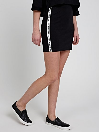 MINI SKIRT WITH SIDE TAPE