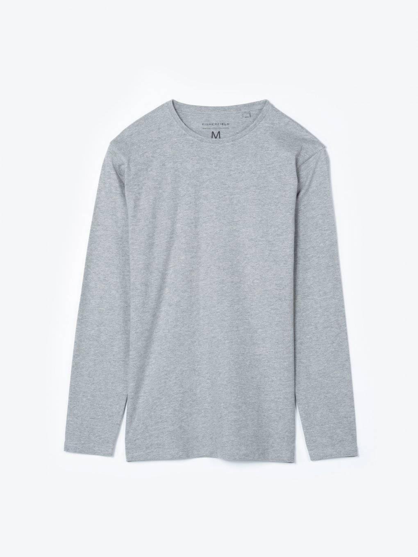 Basic koszulka slim fit z długim rękawem