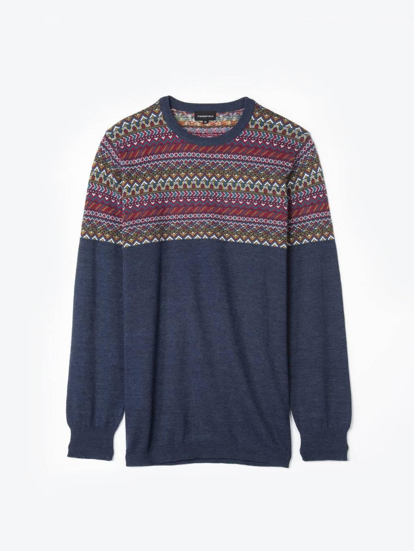 Jacquard cotton jumper