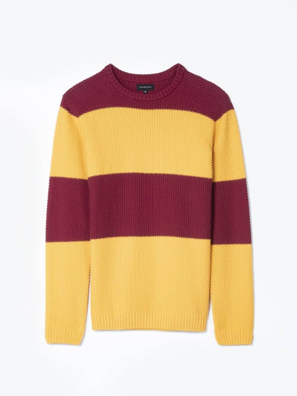 Striped structured jumper