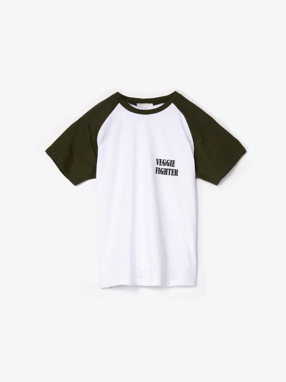 Tričko s nápisom a raglánovým rukávom
