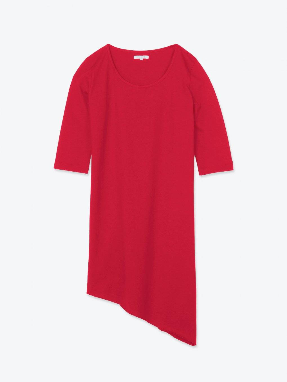 Longline t-shirt with asymmetric hem